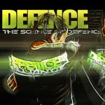 Artistic defence lab logo with fighters